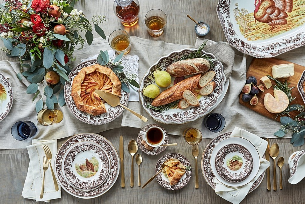 Classic Holiday Tablescape from One Kings Lane